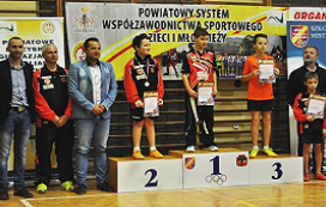 Powiatowe Igrzyskach Młodzieży Szkolnej w Tenisie Stołowym Indywidualnym