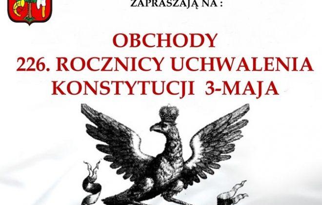 Zapraszamy na obchody rocznicy uchwalenia Konstytucji 3 Maja
