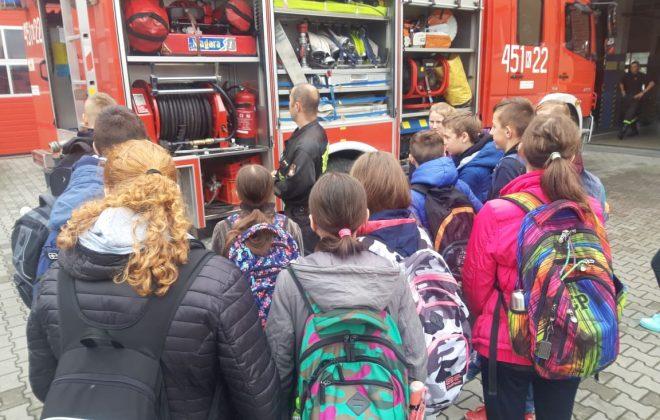 Uczniowie z wizytą u strażaków