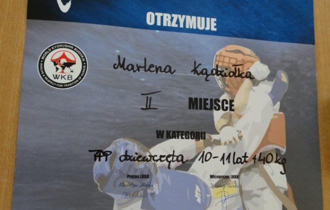 Srebro dla Marleny Kądziołki na Międzynarodowym Turnieju Karate