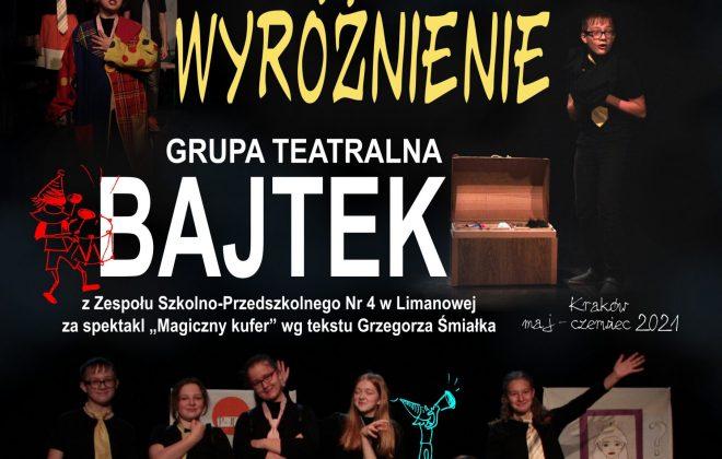 """WYRÓŻNIENIE dla GT """"Bajtek"""" w Krakowie"""